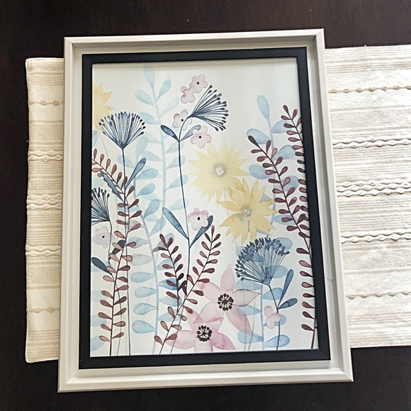 Pretty Soft Botanical Flower Wall Art Framed Print